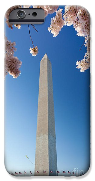District Of Columbia iPhone Cases - Washington Monument iPhone Case by Inge Johnsson