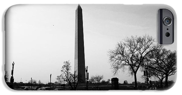 D.c. iPhone Cases - Washington Monument Intersection iPhone Case by Marina McLain