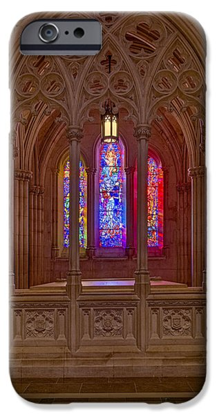 D.c. iPhone Cases - Washington National Cathedral Colors iPhone Case by Susan Candelario
