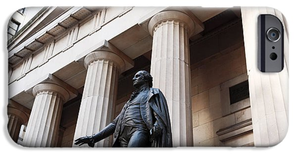 Best Sellers -  - Finance iPhone Cases - Washington on Wall Street iPhone Case by John Rizzuto