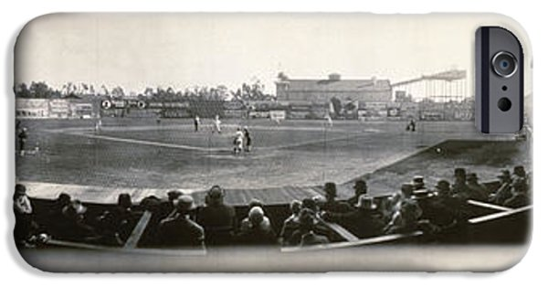 Wrigley iPhone Cases - Washington Park Los Angeles Angels 1911 iPhone Case by Bill Cannon