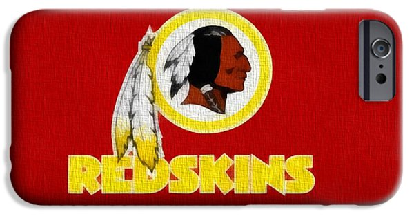 Controversy iPhone Cases - Washington Redskins On Canvas iPhone Case by Dan Sproul