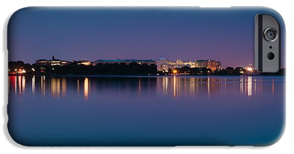 Patriotic Photographs iPhone Cases - Washington Skyline iPhone Case by Sebastian Musial