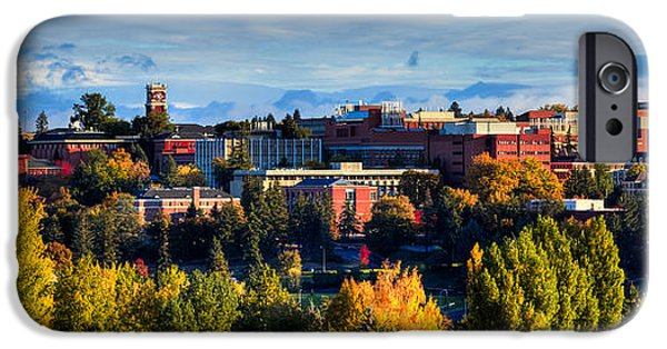 David iPhone Cases - Washington State University in Autumn iPhone Case by David Patterson