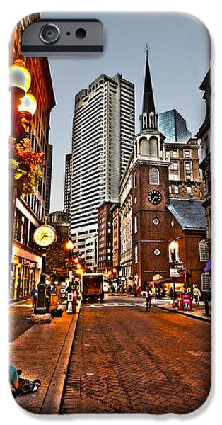 Boston Ma iPhone Cases - Washington Street in Boston iPhone Case by Toby McGuire