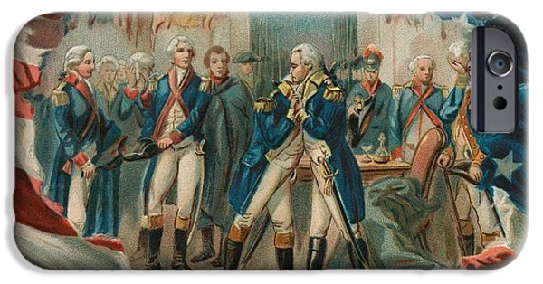 Leave iPhone Cases - Washington Taking Leave Of His Officers iPhone Case by Anonymous