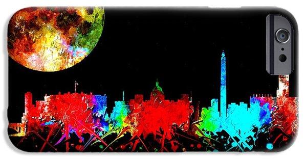 D.c. Mixed Media iPhone Cases - Washington Watercolor iPhone Case by Daniel Janda