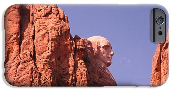 President iPhone Cases - Washingtons Profile iPhone Case by John Malone
