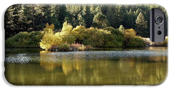 Fall Scenes iPhone Cases - Washoe Valley iPhone Case by Carol Sweetwood