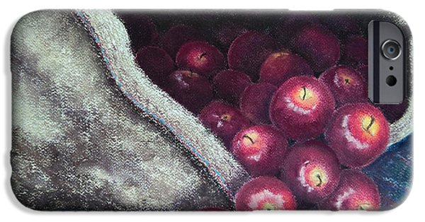 Christmas Greeting Pastels iPhone Cases - Wassail iPhone Case by Stanza Widen