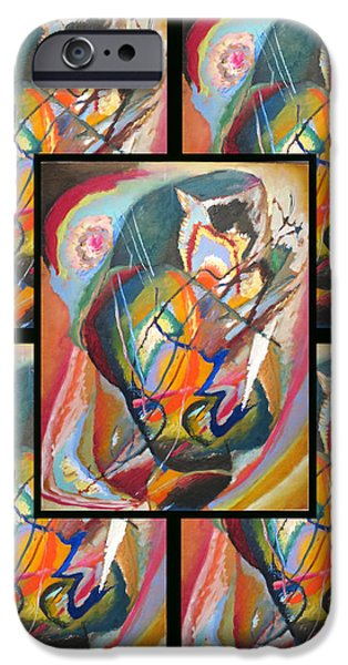 Bed Spread iPhone Cases - Wassily Kandinsky 2 iPhone Case by Wassily Kandinsky