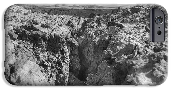 Rocky Digital Art iPhone Cases - Wasteland iPhone Case by Mike McGlothlen