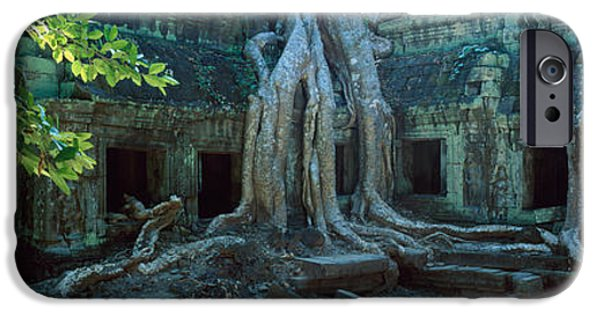 Tree Roots Photographs iPhone Cases - Wat Temple Complex Of Ta-prohm Cambodia iPhone Case by Panoramic Images