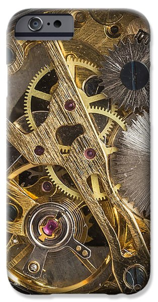 Gear iPhone Cases - Watch Gears Phone Case Aspect iPhone Case by Edward Fielding