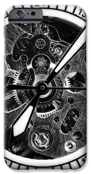 Watch Hands iPhone Case by John Rizzuto