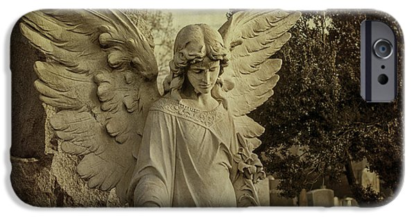 Seraphim Angel iPhone Cases - Watch Over Me iPhone Case by Terry Rowe