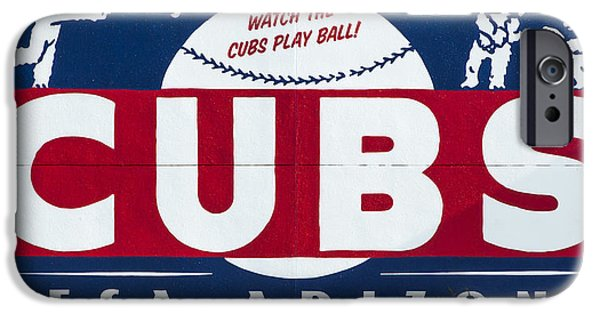 Chicago Cubs iPhone Cases - Watch The Cubs iPhone Case by Stephen Stookey