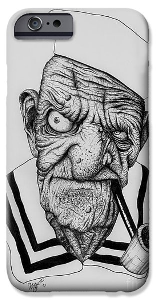 Wave Art iPhone Cases - Watcha lookin at? iPhone Case by Wave