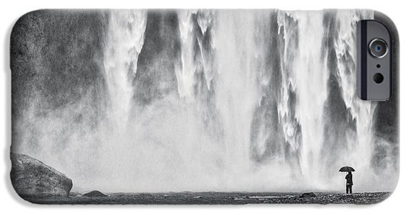 Picturesque iPhone Cases - Watcher at the Falls iPhone Case by Duane Miller