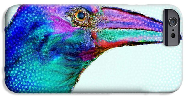 Baby Bird Mixed Media iPhone Cases - Watcher iPhone Case by Moon Stumpp