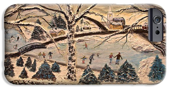 Stonewall Paintings iPhone Cases - Winters Holiday Splendor iPhone Case by Mark Prescott Crannell