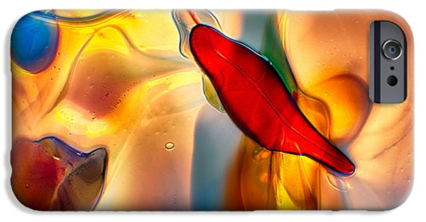 Creek Glass Art iPhone Cases - Watchers iPhone Case by Omaste Witkowski