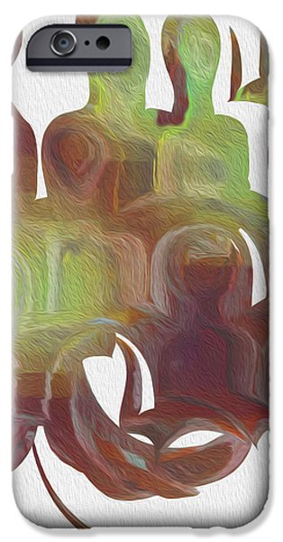 Virtual Digital iPhone Cases - Watching And Waiting 2 iPhone Case by Jack Zulli