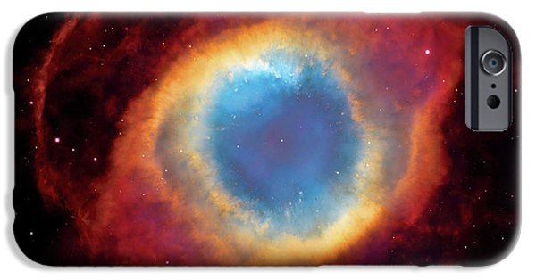 Constellations iPhone Cases - Watching - Helix Nebula iPhone Case by The  Vault - Jennifer Rondinelli Reilly