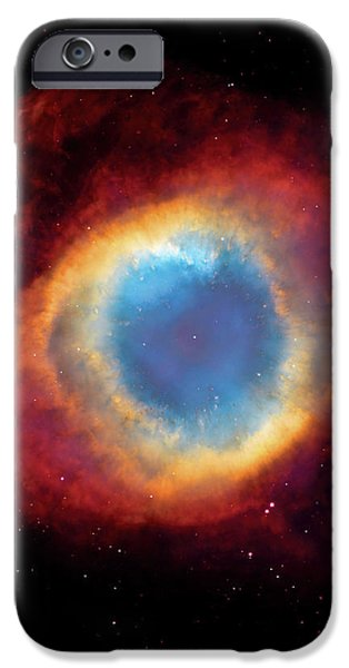 Watching - Helix Nebula iPhone Case by The  Vault - Jennifer Rondinelli Reilly
