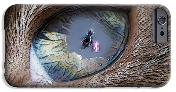 Puppy Digital Art iPhone Cases - Watching mom race. iPhone Case by Mayhem Mediums