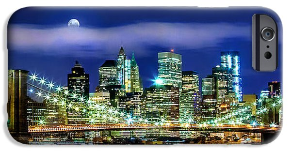 Hudson River iPhone Cases - Watching Over New York iPhone Case by Az Jackson