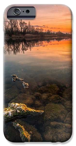 Watching sunset iPhone Case by Davorin Mance