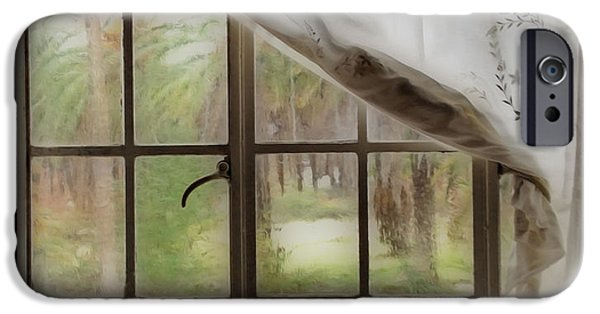 Thinking iPhone Cases - Watching the Rain iPhone Case by Cheryl Young