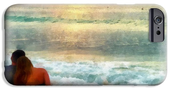 Caruso iPhone Cases - Watching the Sunset iPhone Case by Anthony Caruso