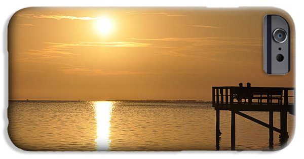 St. Petersburg iPhone Cases - Watching the Sunset iPhone Case by Bill Cannon
