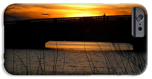Boston iPhone Cases - Watching the sunset from the John Weeks Bridge iPhone Case by Toby McGuire