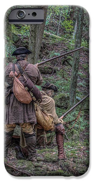 American Revolution Digital Art iPhone Cases - Watching the Trail iPhone Case by Randy Steele