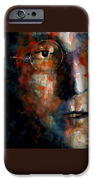 Watching the Wheels iPhone Case by Paul Lovering