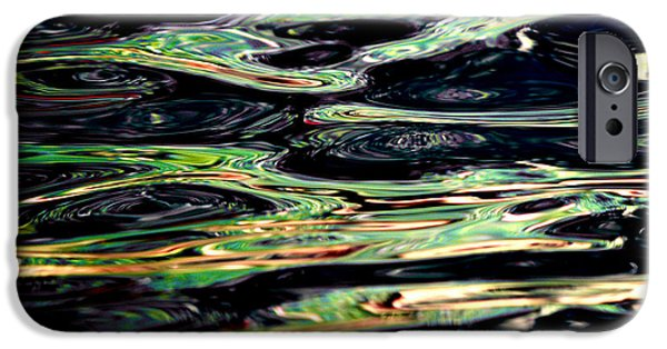 Bill Gallagher iPhone Cases - Water Abstract iPhone Case by Bill Gallagher