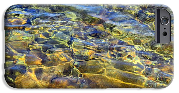 Maine iPhone Cases - Water Abstract iPhone Case by Lynda Lehmann