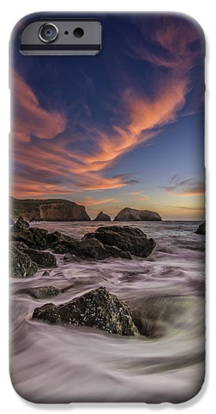Headland iPhone Cases - Water and Fire iPhone Case by Rick Berk
