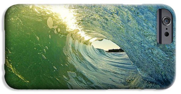 Santa Cruz Surfing iPhone Cases - Water and Light iPhone Case by Paul Topp