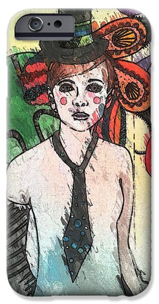 Water Clown iPhone Case by Amy Sorrell