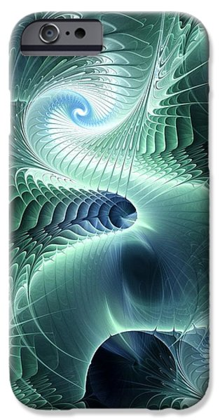Glowing iPhone Cases - Water Dragon iPhone Case by Anastasiya Malakhova