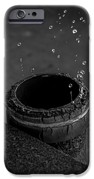 Strange iPhone Cases - Water Dripping Up The Spout iPhone Case by Bob Orsillo