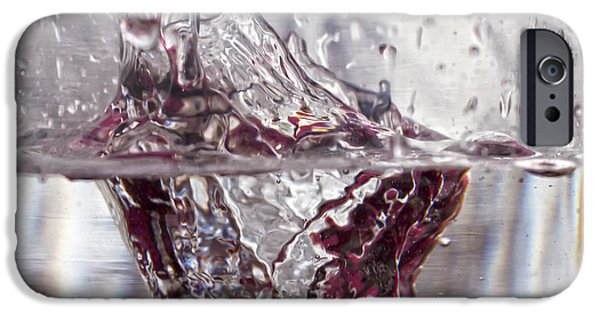 Macro iPhone Cases - Water Drops Abstract  iPhone Case by Stylianos Kleanthous