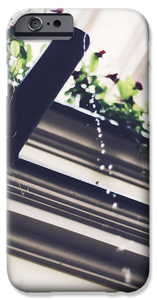 Orsillo Photographs iPhone Cases - Water Drops iPhone Case by Engin Uzunkaya