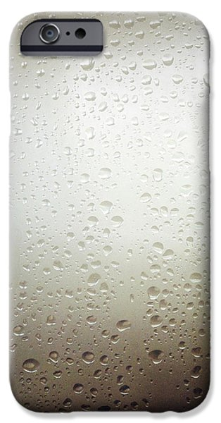 Water drops iPhone Case by Les Cunliffe