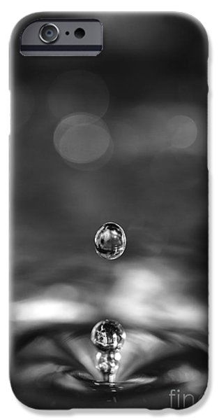 Rebound iPhone Cases - Water drops rebound iPhone Case by Paul Cowan