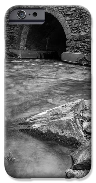 Eerie iPhone Cases - Cornish Mill Bridge iPhone Case by Edward Fielding